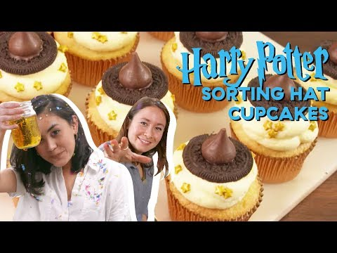 How To Make Harry Potter Sorting Hat Cupcakes | Delish | Cult Kitchen