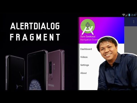 How to Use AlertDialog in Fragment in Android - Navigation Drawer 2017