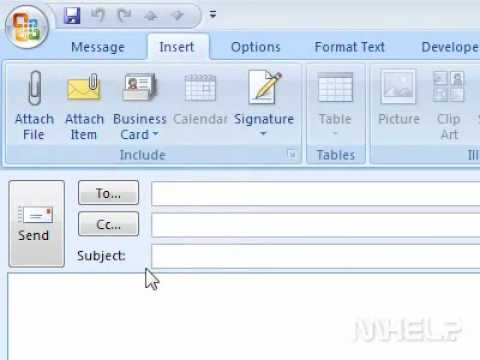 How to send a contact as a business card in Outlook