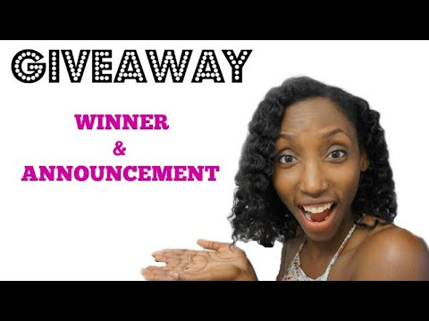 GIVEAWAY WINNER & SPECIAL ANNOUNCEMENT