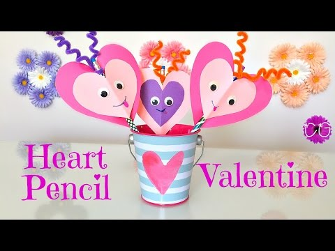 HEART PENCIL TOPPERS!  EASY & SO CUTE!