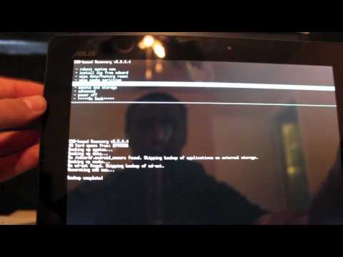 How to Nandroid Backup and Restore Asus Transformer Prime CWM Recovery