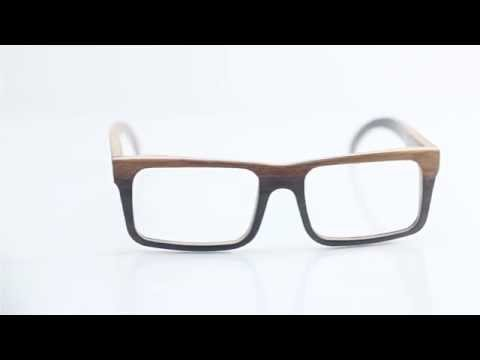 Wooden glasses - optical, model: moonlight