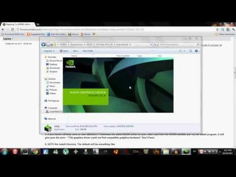 How to Fix NVIDIA Driver Update Installer Error
