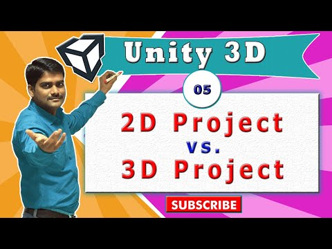 Unity Essentials Tutorial 05 - Differences between 3D & 2D projects