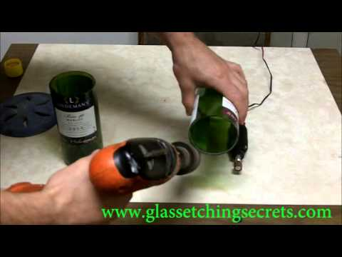 Quickly & Easily Finish a Cut Glass Bottle by Sanding Edges