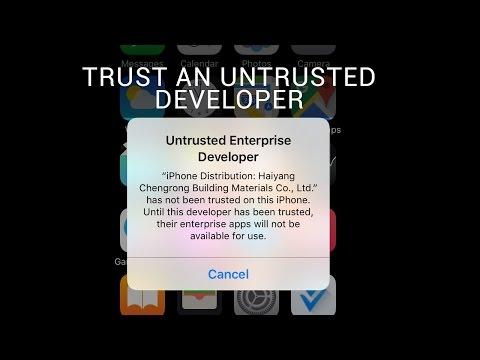 Trust an Untrusted Developer iOS 9