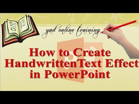 how to create hand writing text effect in ms PowerPoint 2016