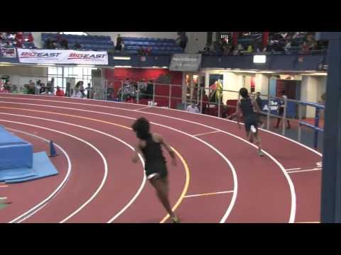 Girls 300m Final Heat 1   2014 PSAL Indoor Championships