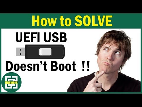 [Solved] The UEFI bootable USB of Windows does not boot !