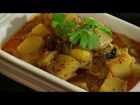 Green (Raw) Papaya Subzi Indian Vegetarian Recipe Video