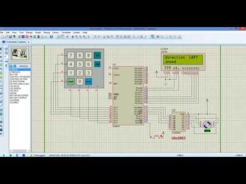 stepper motor speed control via keypad