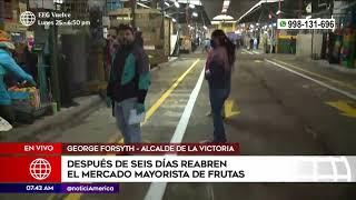 Primera Edición: Mercado de frutas reabre sus puertas luego de 6 días