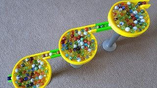 500 Marbles On A Marble Run!