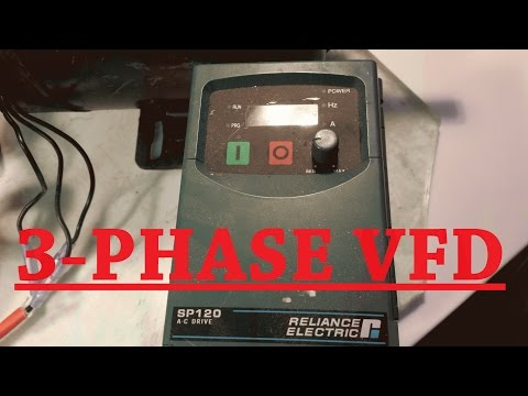 variable frequency drive 3 phase demonstration for band-saw project