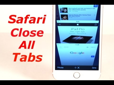 Cydia Tweak: Safari Close All Tabs