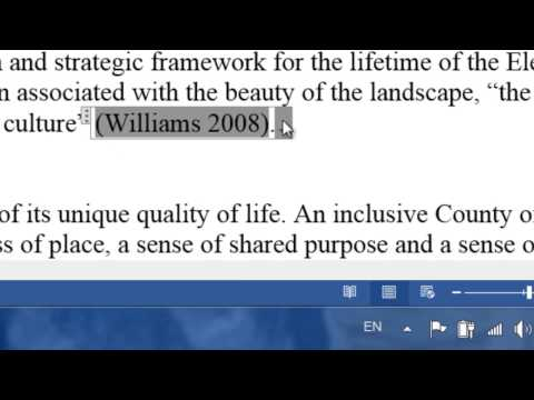 Bibliography and Citations/ References in Word 2013