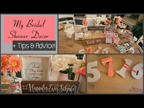 My Bridal Shower Decor! Plus Tips & Advice