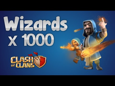 Clash of Clans - 1000 Wizards Attacks