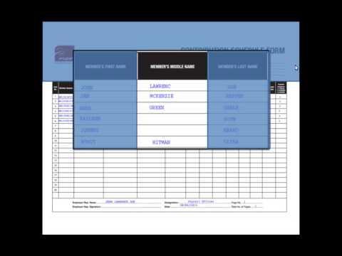 Employer Self Service Portal - Filling in a CS Manually