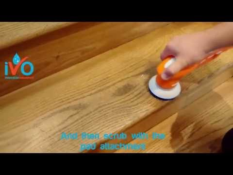 How to clean timber floors & stairs, with this stair scrubber