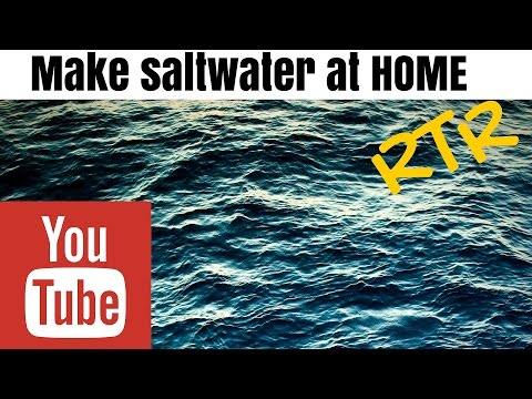 how to make saltwater for aquarium