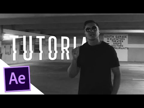 Text Behind Moving Objects - After Effects Tutorial