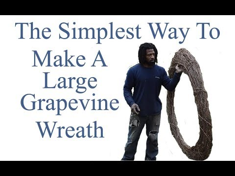How to make a Grapevine Wreath Large