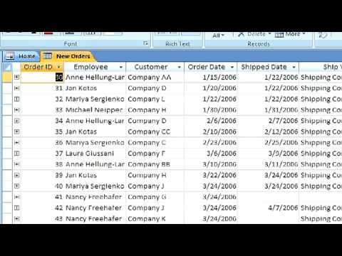 Microsoft Access Tutorial : How to Define a Date Format for a Microsoft Access Field