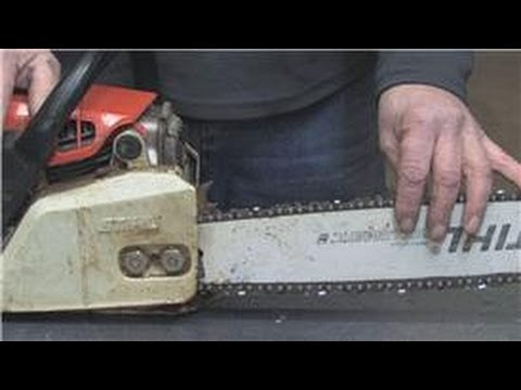 Chainsaws & Tools : How to Tighten a Chainsaw Chain