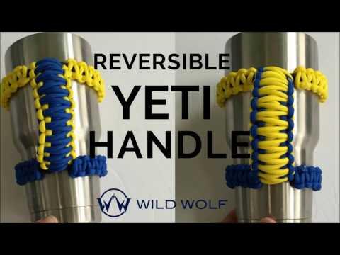 Paracord Yeti Handle - Reversible - Cobra Weave