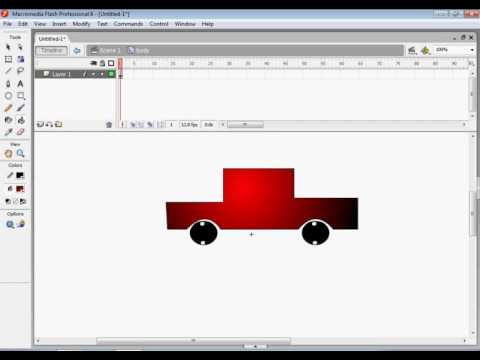 Moving Car using add motion guide layer in Macromedia Flash