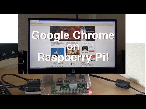 Google chrome on Raspberry Pi B+!