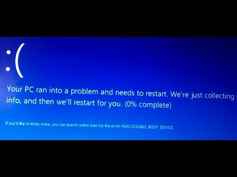 How to Fix Inaccessible Boot Device Error Windows 8.1 / INACCESSIBLE_BOOT_DEVICE