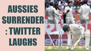 India vs Australia 4th Test: Aussies surrender in second innings; Twitter makes fun |Oneindia News