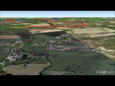 Amstel Gold Race new route, Google Earth fly over video