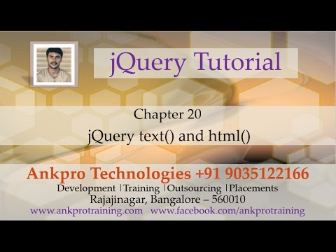 JQuery 20 - text and html DOM manipulation methods