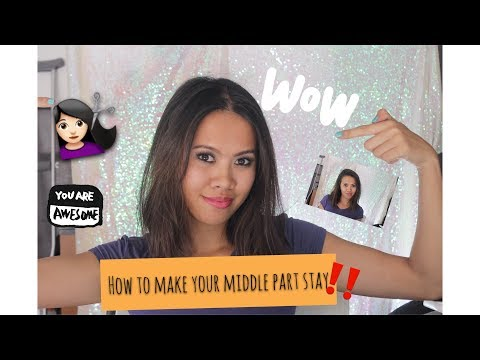 Change your hair part: How to make your bangs go from side part to middle part and make it stay!