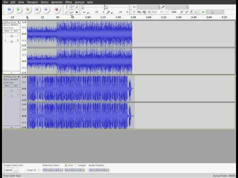 Audacity - working with multiple tracks