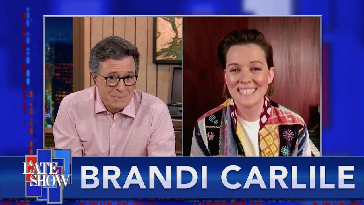 "Brandi Carlile Treats Stephen To A Little Of Joni Mitchell's ""A Case Of You"""
