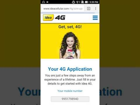 How To Upgrade Idea SIM 2G,3G to 4G Sim Upgrade Free in 5 min