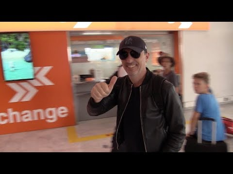 EXCLUSIVE - Gad Elmaleh arrives at Nice Airport