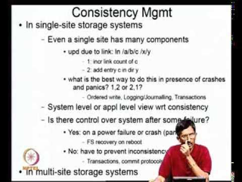 Mod-09 Lec-32 Consistency & Commit problems