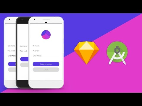 Sketch UI Design to Android Studio XML Tutorial