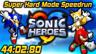 Sonic Heroes (gc): Super Hard Mode In 44:02.80