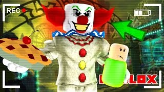 CREEPY CLOWN TRAPS US IN A HOUSE IN ROBLOX!
