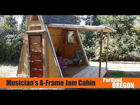Portland, OR A-frame Cabin Doubles as a Musician's Jam Stage