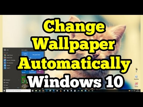 Change Wallpaper Automatically on Windows 10