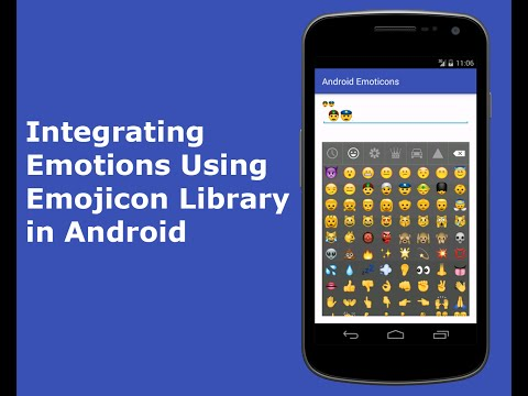 Integrating Emotions using emojicon library in Android