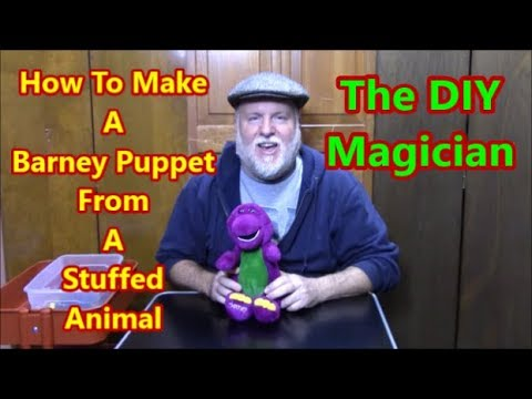 How To Make A Barney Puppet From A Stuffed Animal The DIY Magician